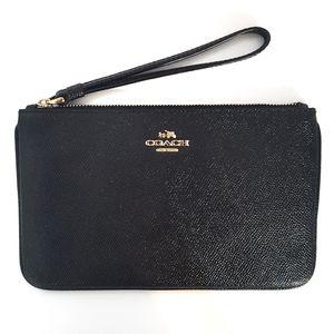 LNC Coach Long Zip Wristlet Clutch Leather Gift